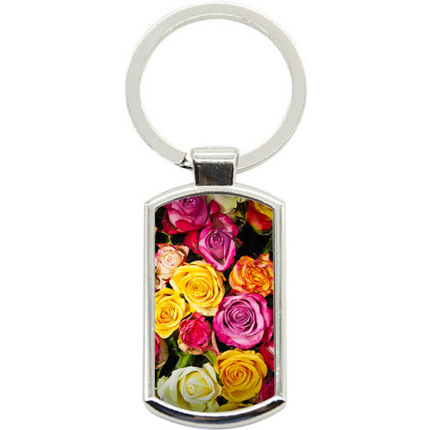KeyRing Stainless Steel Key Chain Ring - Rose Heaven Y01609