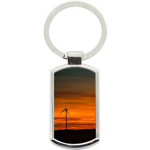 KeyRing Stainless Steel Key Chain Ring - sunset Future Y01614