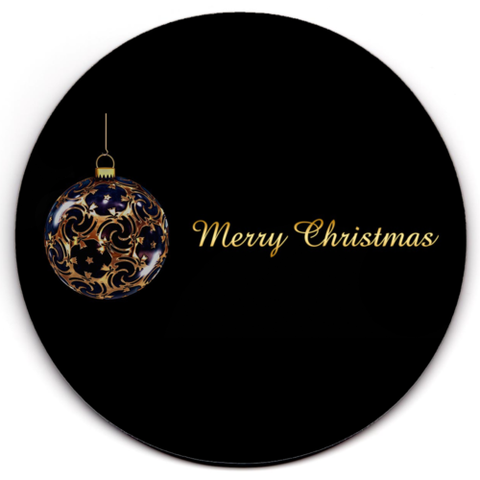 Set of 6 HD SuperClear Drink Coaster Christmas Gold Y00484