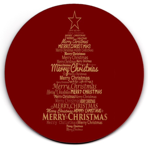 Set of 2 HD SuperClear Drink Coaster Christmas Words Y00483