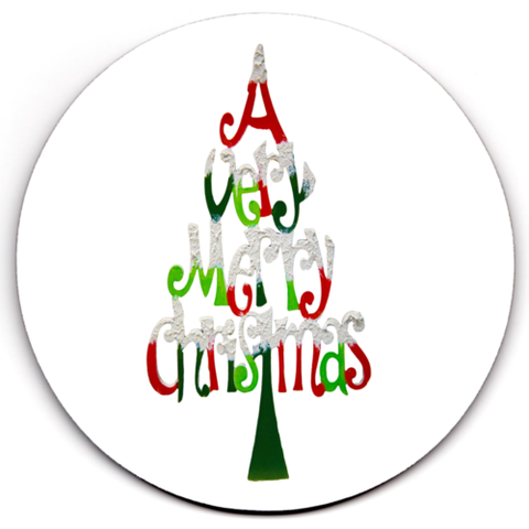 Set of 4 HD SuperClear Drink Coaster Christmas Y00477