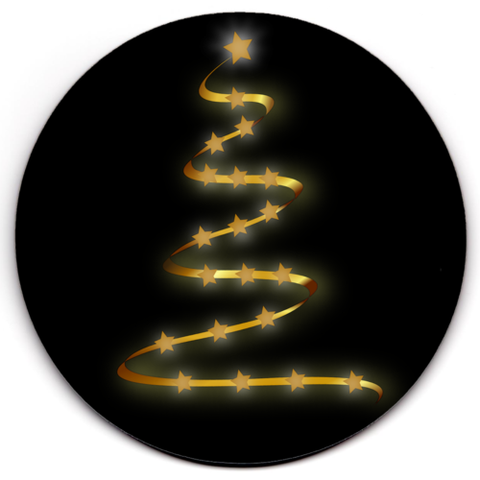 Set of 2 HD SuperClear Drink Coaster Christmas Stars Y00486