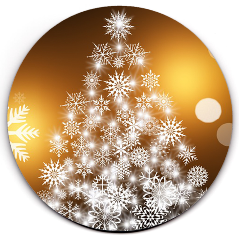 Set of 6 HD SuperClear Drink Coaster Christmas Tree Y00481