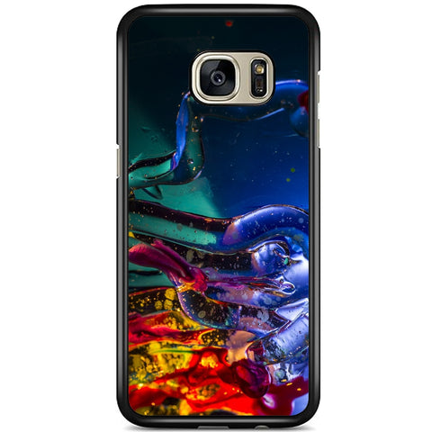 Fits Samsung Galaxy S7 EDGE - Abstract Blue Case Phone Cover Y00143