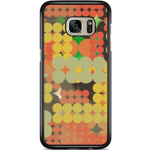 Fits Samsung Galaxy S7 EDGE - Abstract Pola Dots Case Phone Cover Y00311