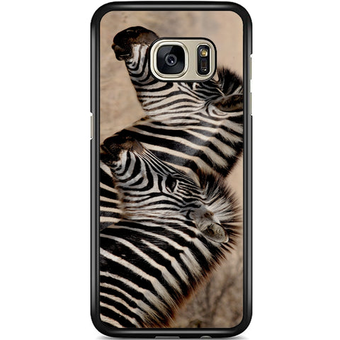 Fits Samsung Galaxy S7 - Zebra Baby Mum Case Phone Cover Y00362