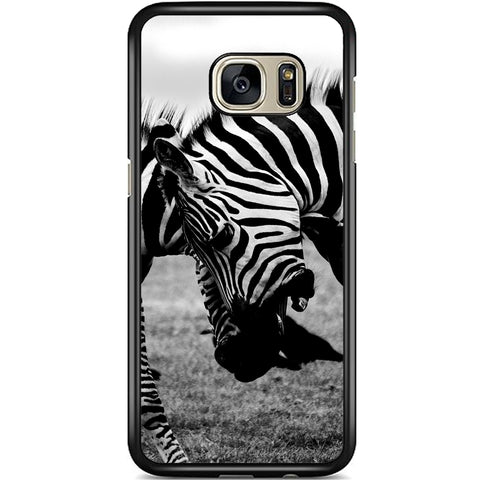 Fits Samsung Galaxy S7 - Zebra Fight Case Phone Cover Y00373