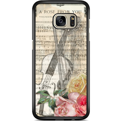 Fits Samsung Galaxy S7 EDGE - A Rose Music Case Phone Cover Y00628