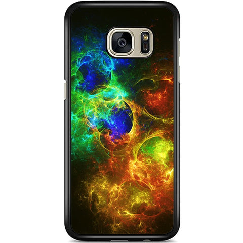 Fits Samsung Galaxy S7 EDGE - Abstract Fire Ice Case Phone Cover Y00792