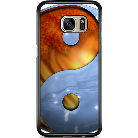 Fits Samsung Galaxy S7 - Ying Yang Fire Ice Case Phone Cover Y00949
