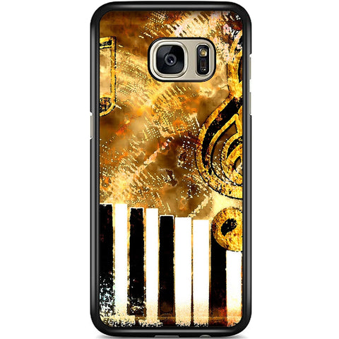 Fits Samsung Galaxy S7 EDGE - Abstract Music Case Phone Cover Y01182
