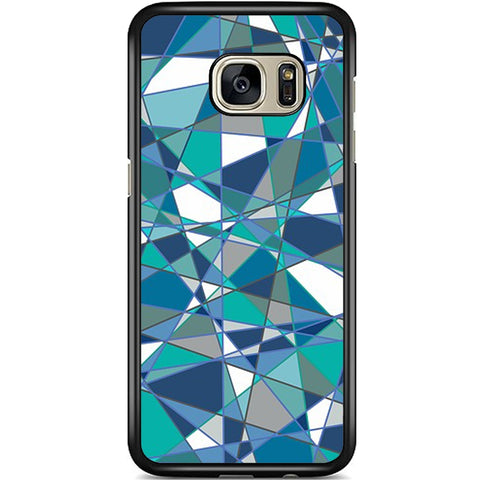 Fits Samsung Galaxy S7 EDGE - Abstract Teal Case Phone Cover Y01184