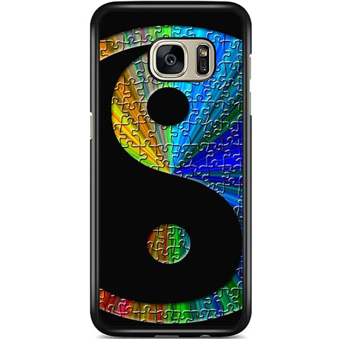 Fits Samsung Galaxy S7 - Yin Yang Puzzle Case Phone Cover Y01490