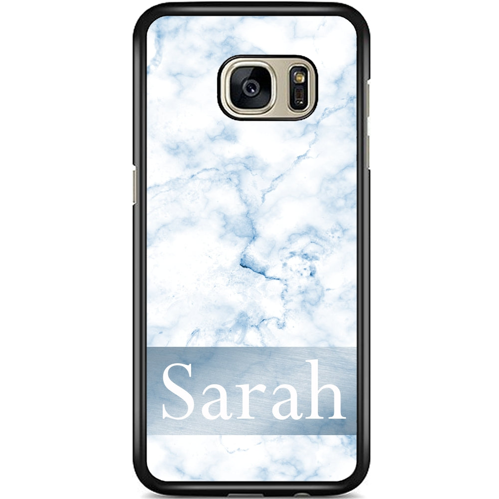 best sneakers 1a8e8 5dc40 Fits Samsung Galaxy S7 EDGE - PERSONALISED Name on Marble Case Phone Cover  Y01519