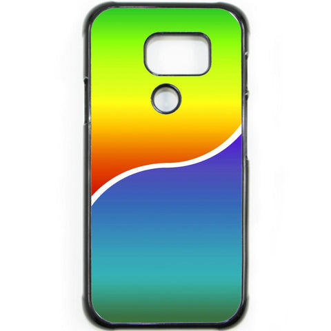 Fits Samsung Galaxy S7 ACTIVE - Yin Yang Rainbow Case Phone Cover Y01491