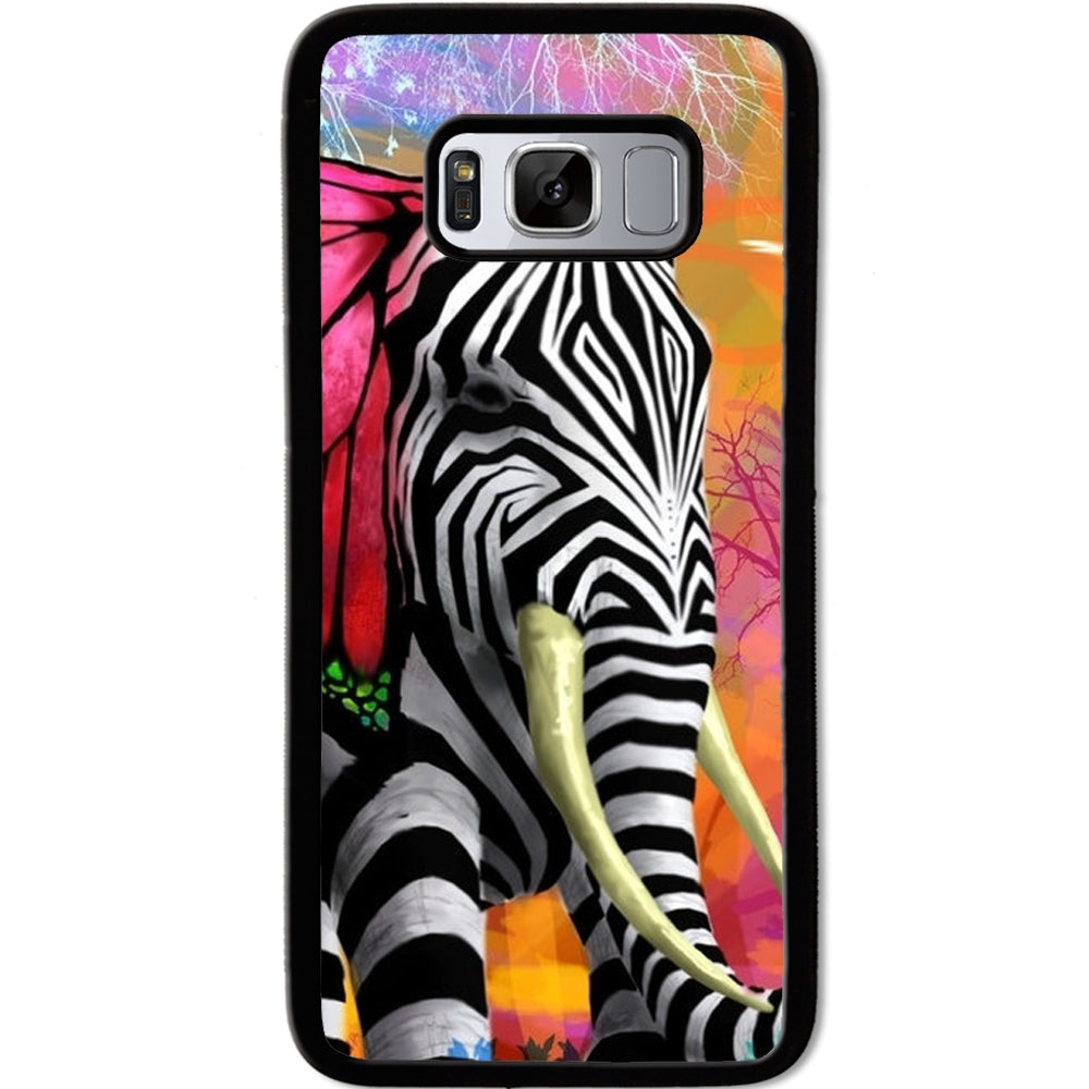 Fits Samsung Galaxy S8 - Zebra Elephant Case Phone Cover Y00033
