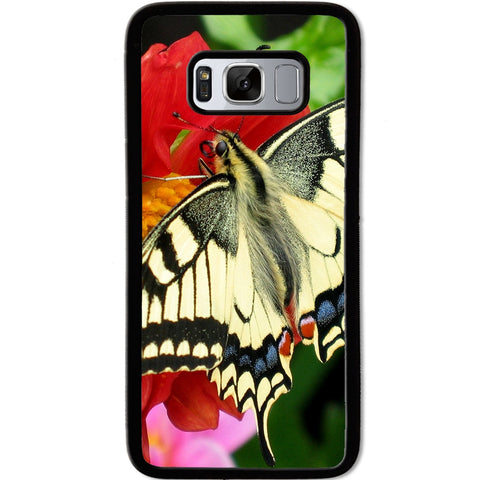 Fits Samsung Galaxy S8 - Yellow Butterfly Case Phone Cover Y00042