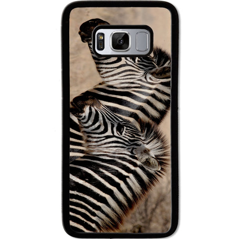 Fits Samsung Galaxy S8 - Zebra Baby Mum Case Phone Cover Y00362