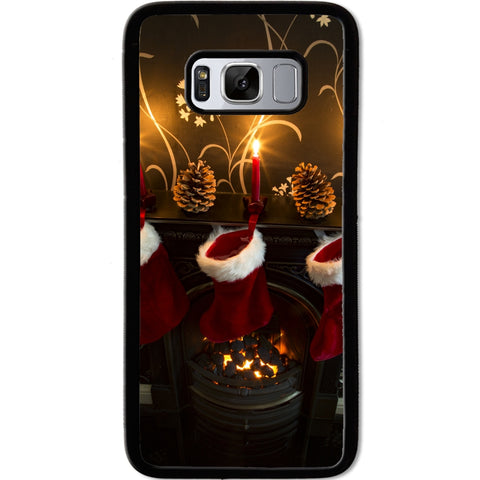 Fits Samsung Galaxy S8 - Xmas Stockings Case Phone Cover Y00487
