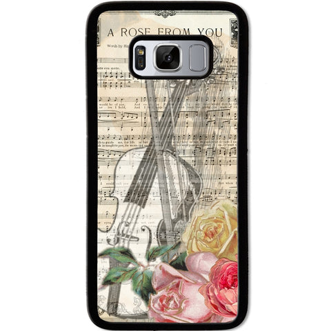 Fits Samsung Galaxy S8 - A Rose Music Case Phone Cover Y00628