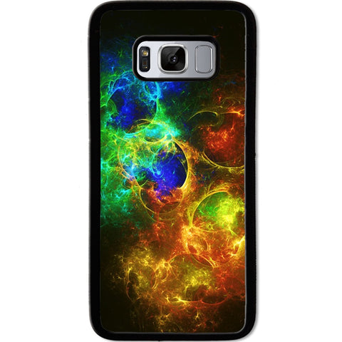 Fits Samsung Galaxy S8 - Abstract Fire Ice Case Phone Cover Y00792