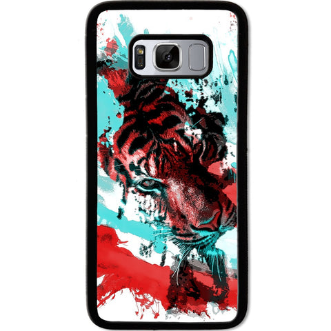 Fits Samsung Galaxy S8 - Abstract Tiger Case Phone Cover Y00794