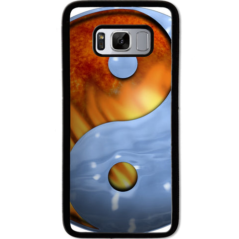 Fits Samsung Galaxy S8 - Ying Yang Fire Ice Case Phone Cover Y00949