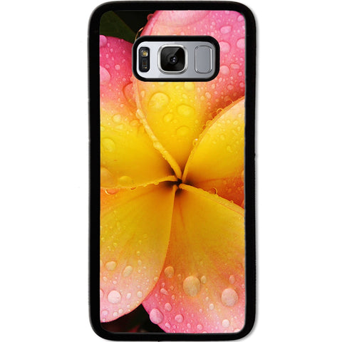 Fits Samsung Galaxy S8 - Yellow Pink Flower Case Phone Cover Y01074