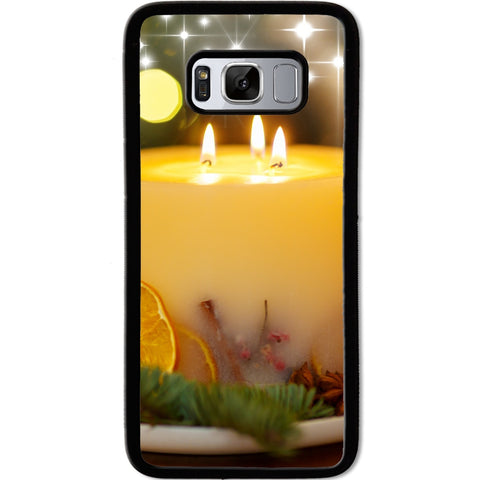 Fits Samsung Galaxy S8 - Xmas Candle Case Phone Cover Y01227