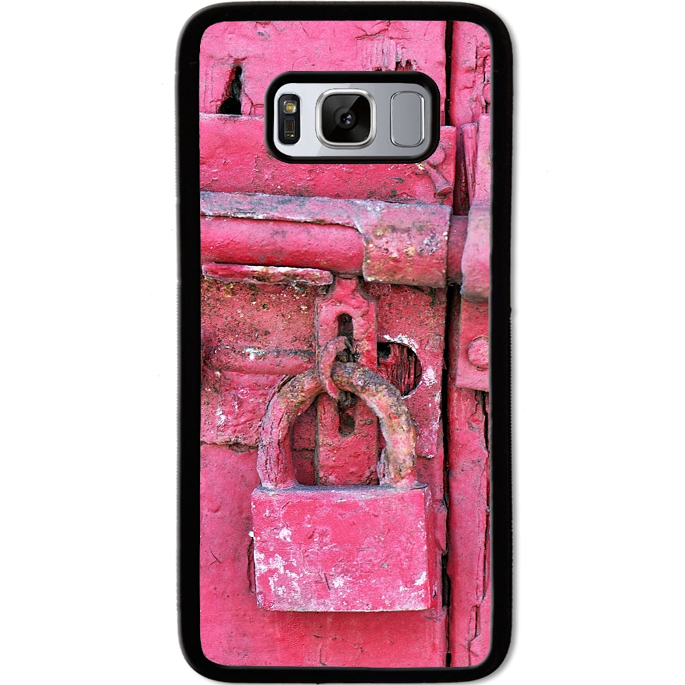 Fits Samsung Galaxy S8 - Hot Pink Lock Case Phone Cover Y01306