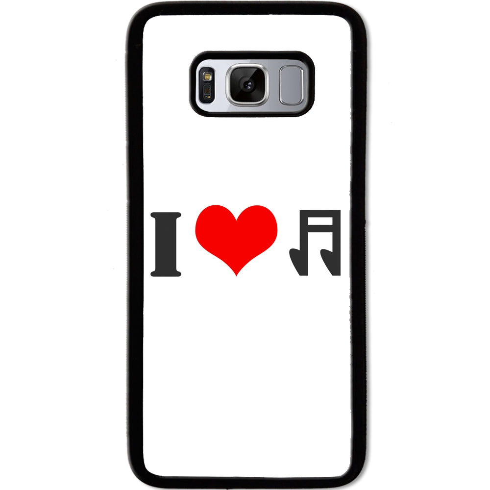 Fits Samsung Galaxy S8 - I Love Music Case Phone Cover Y01307
