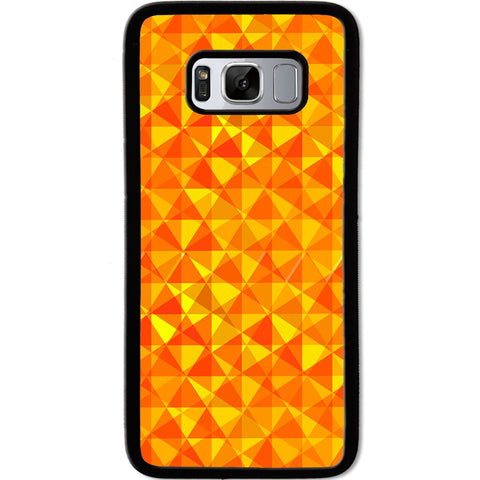 Fits Samsung Galaxy S8 - Yellow Triangular Case Phone Cover Y01346