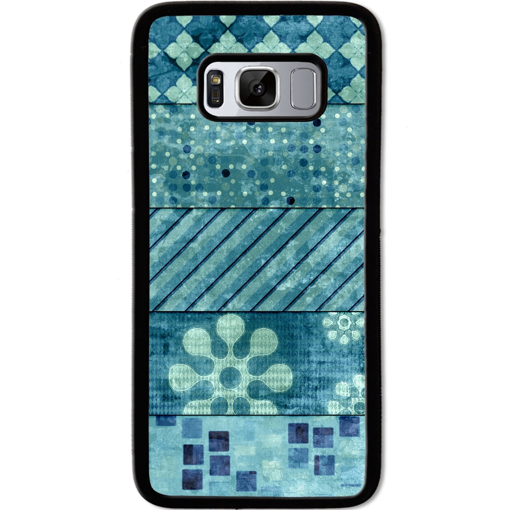 Fits Samsung Galaxy S8 - Teal Collage Pattern Case Phone Cover Y01427
