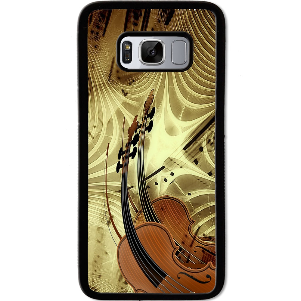 Fits Samsung Galaxy S8 - Violin Music Case Phone Cover Y01453