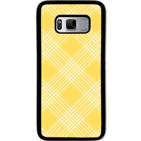 Fits Samsung Galaxy S8 - Yellow Checkers Case Phone Cover Y01467