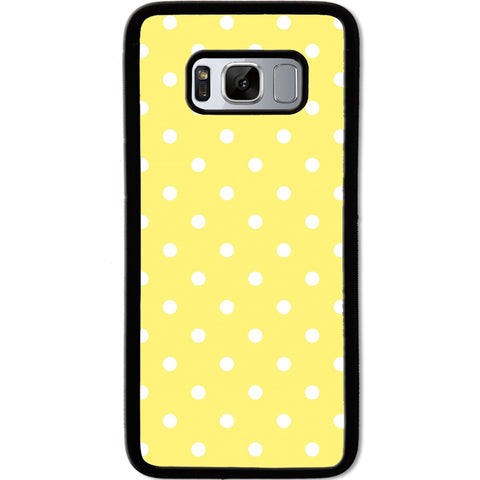 Fits Samsung Galaxy S8 - Yellow Polka Dots Case Phone Cover Y01472