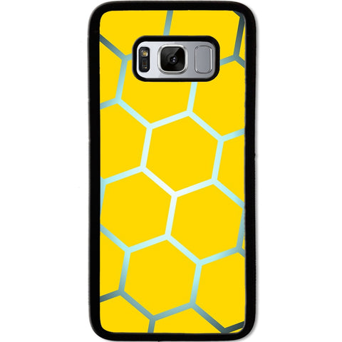Fits Samsung Galaxy S8 - Yellow Silver Hive Case Phone Cover Y01473