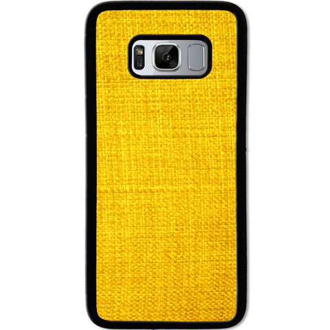 Fits Samsung Galaxy S8 - Yellow Texture Case Phone Cover Y01475