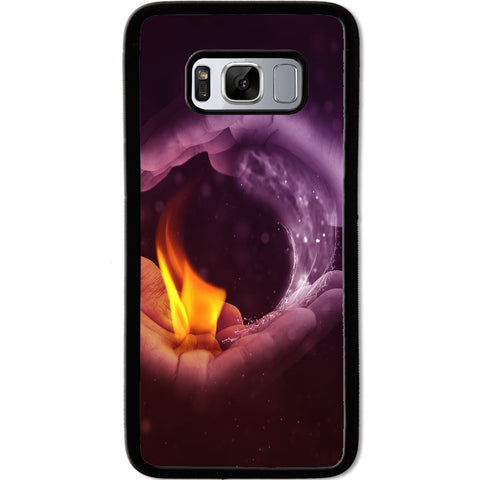 Fits Samsung Galaxy S8 - Yin Yang Fire Case Phone Cover Y01478