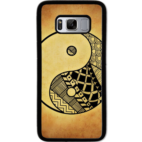 Fits Samsung Galaxy S8 - Yin Yang Grunge Art Case Phone Cover Y01479