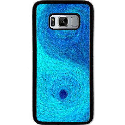 Fits Samsung Galaxy S8 - Yin Yang Blue Case Phone Cover Y01481