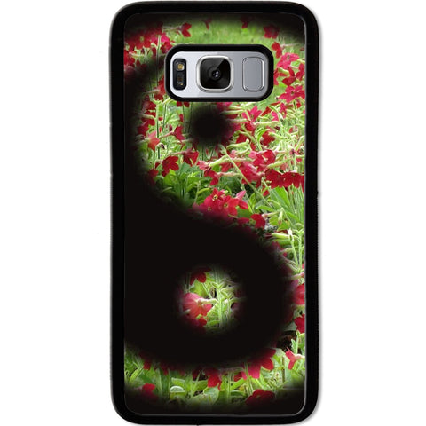 Fits Samsung Galaxy S8 - Yin Yang Flowers Case Phone Cover Y01484