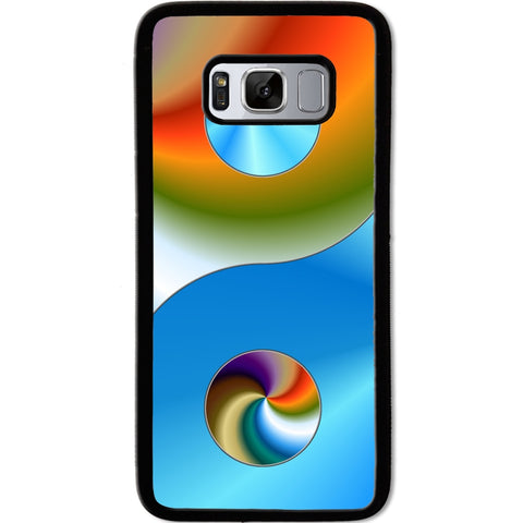 Fits Samsung Galaxy S8 - Yin Yang Funky Case Phone Cover Y01485