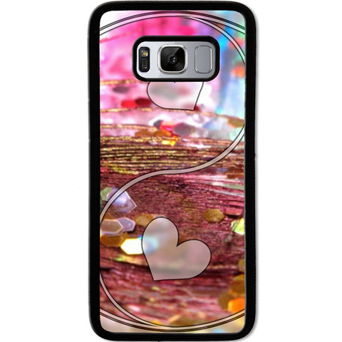 Fits Samsung Galaxy S8 - Yin Yang Love Case Phone Cover Y01487