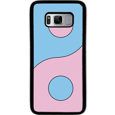 Fits Samsung Galaxy S8 - Yin Yang Pink Case Phone Cover Y01488