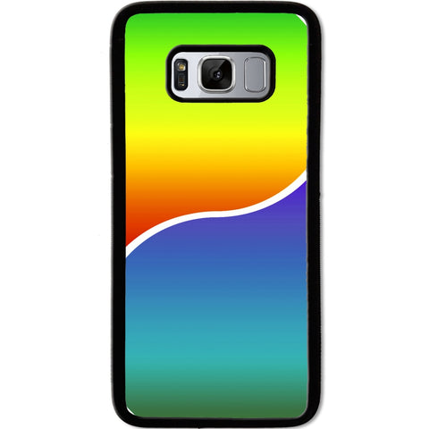 Fits Samsung Galaxy S8 - Yin Yang Rainbow Case Phone Cover Y01491