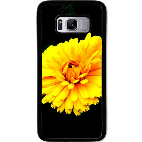 Fits Samsung Galaxy S8 - Yellow Flower Case Phone Cover Y01629