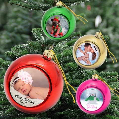 Personalised Xmas Bauble (4 pack)