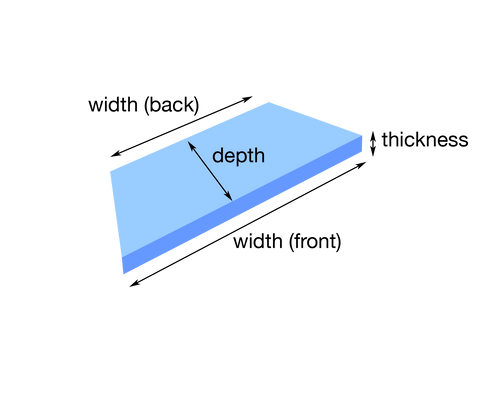 Window Seat Measurement diagram