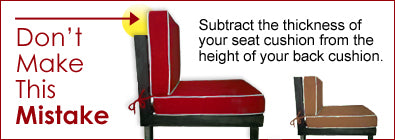 Measuring seat cushions mistake
